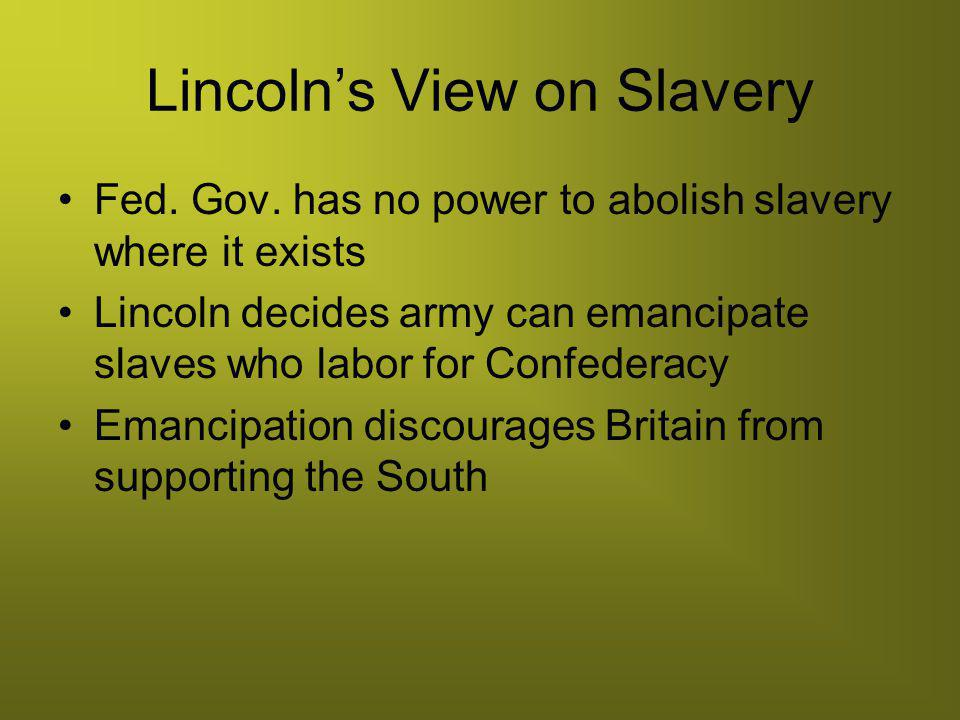 Lincoln's View on Slavery