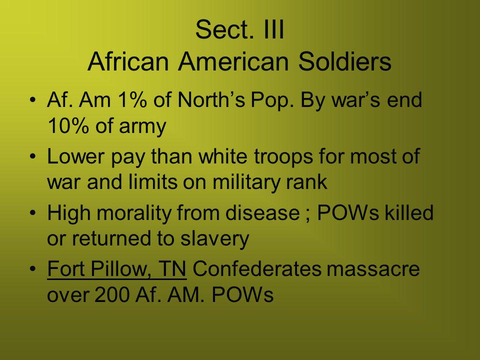 Sect. III African American Soldiers