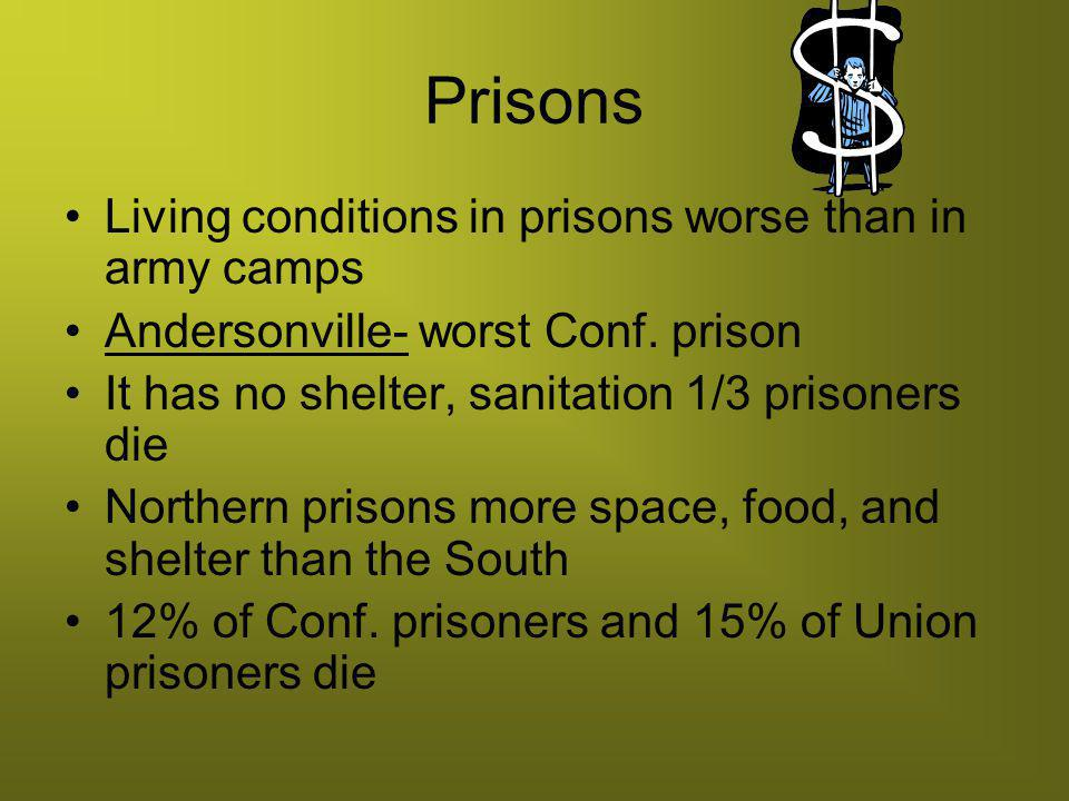 Prisons Living conditions in prisons worse than in army camps
