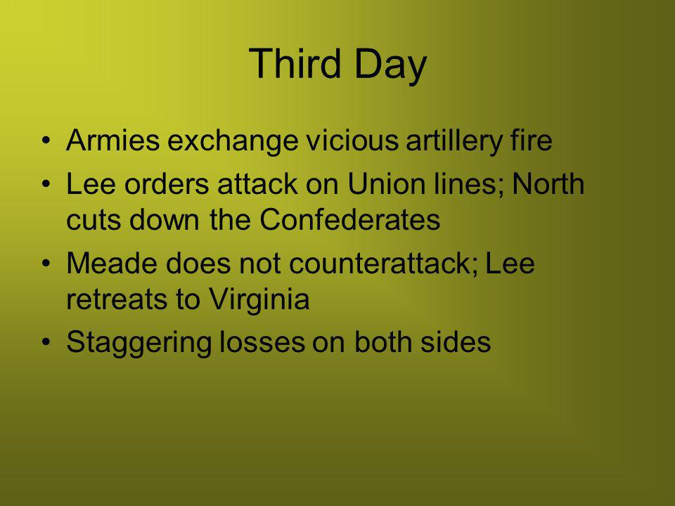 Third Day Armies exchange vicious artillery fire