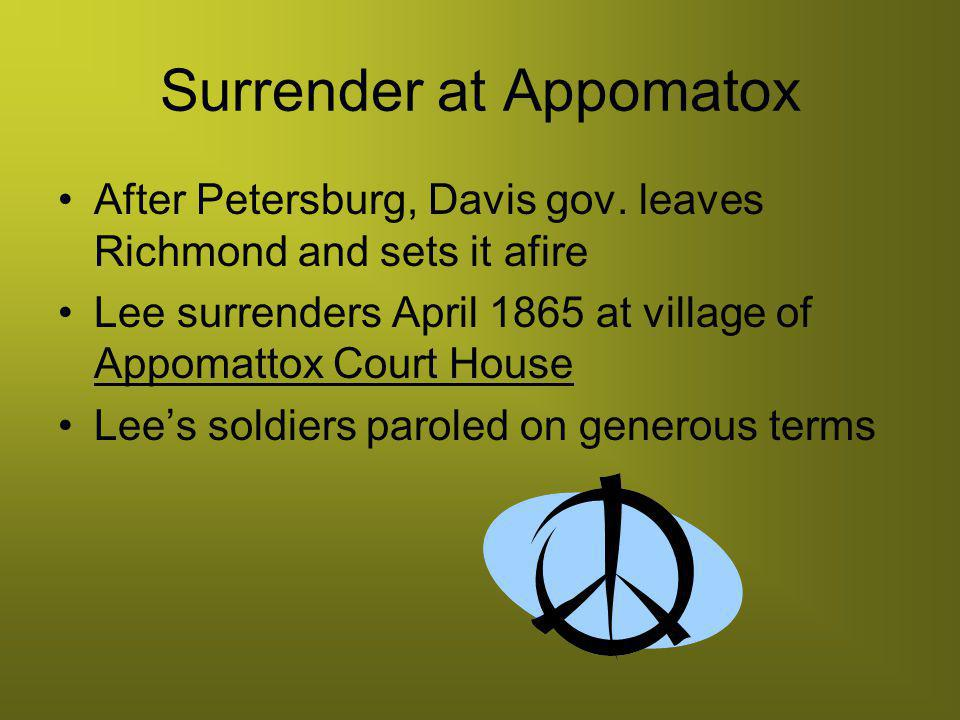 Surrender at Appomatox