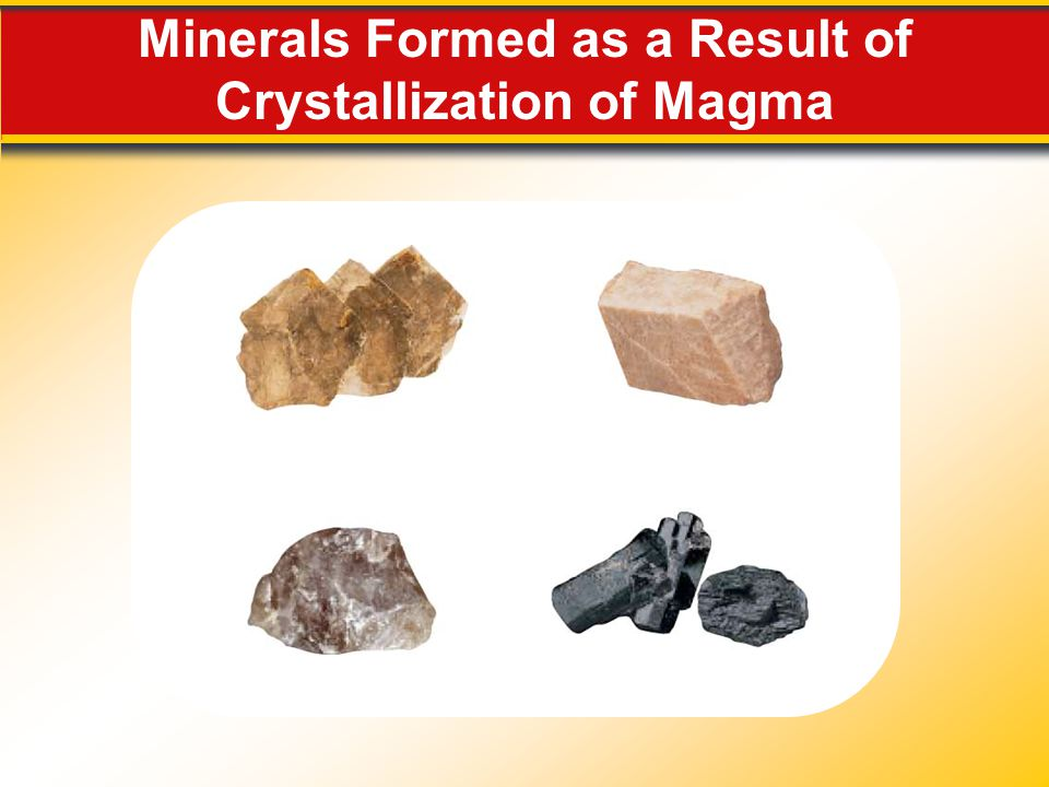 Minerals Formed as a Result of Crystallization of Magma