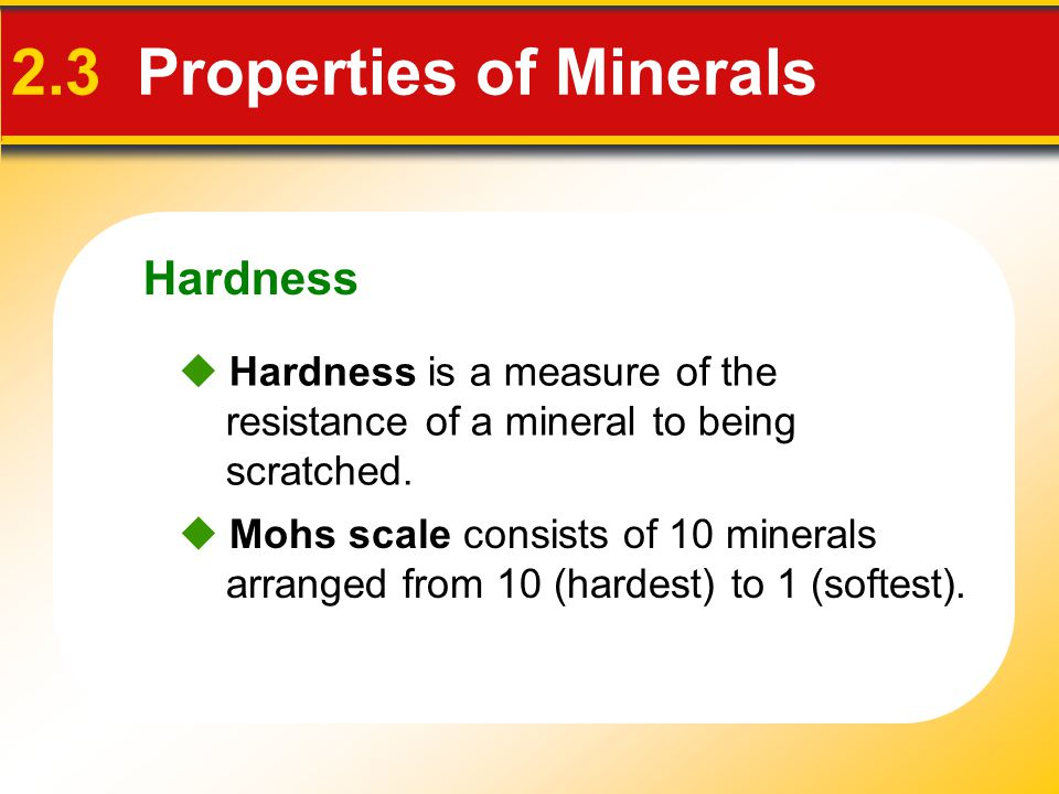 2.3 Properties of Minerals