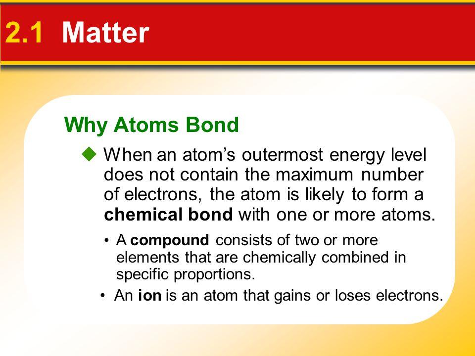 Why Atoms Bond 2.1 Matter.