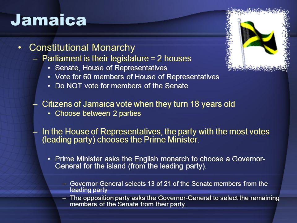 Jamaica Constitutional Monarchy