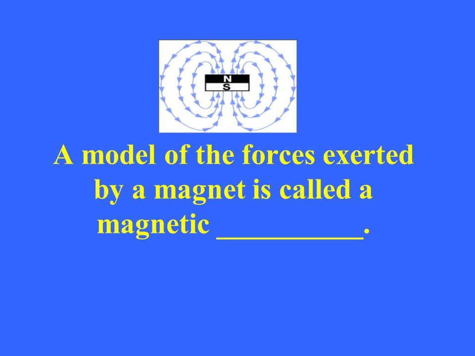 A model of the forces exerted by a magnet is called a magnetic __________.