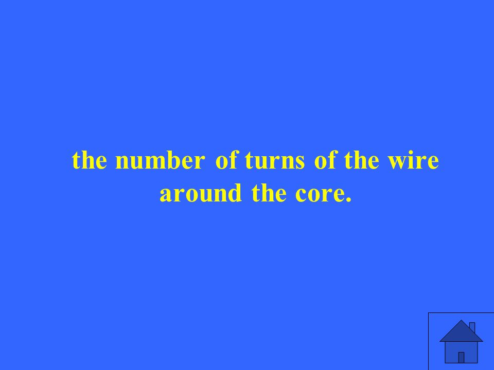 the number of turns of the wire around the core.