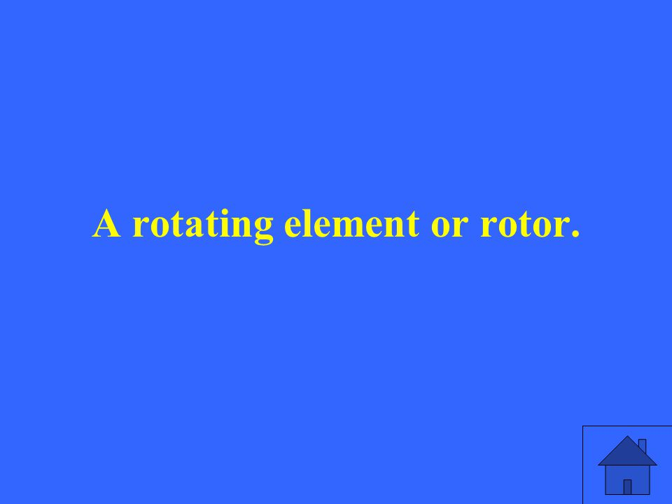 A rotating element or rotor.