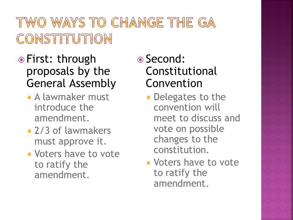 Two Ways to Change the GA Constitution