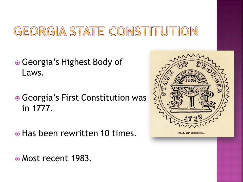Georgia State Constitution