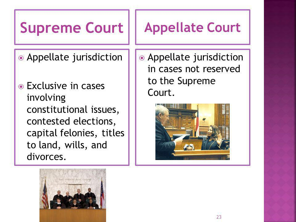 Supreme Court Appellate Court Appellate jurisdiction