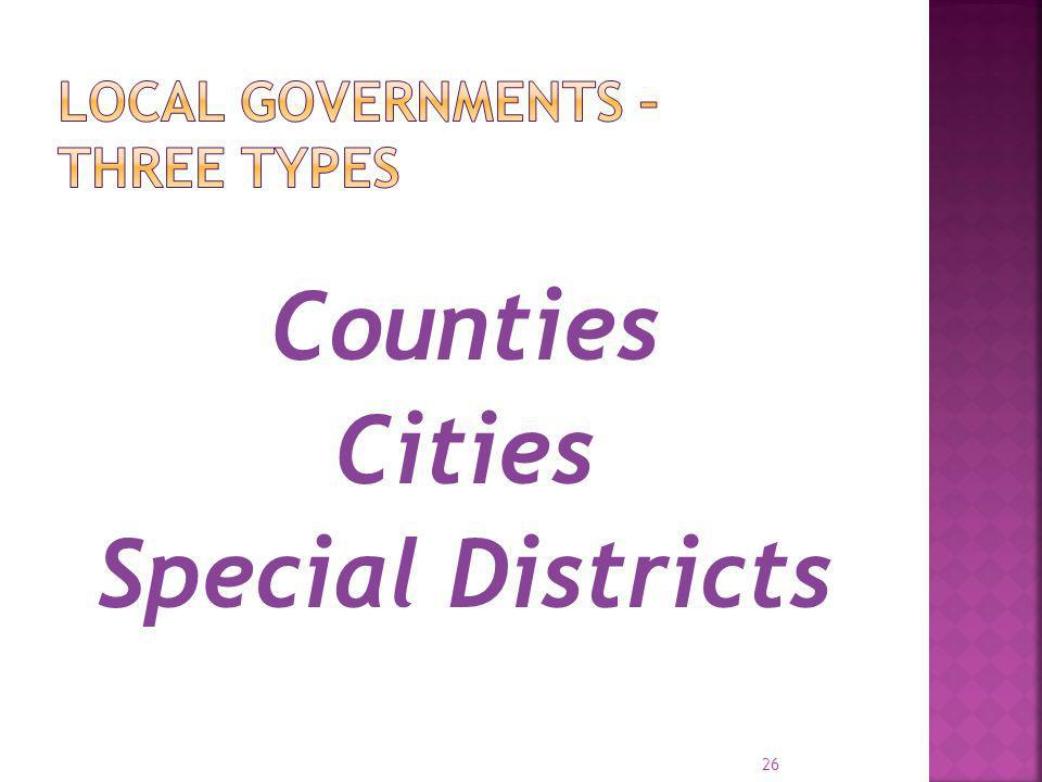 Local Governments – Three Types