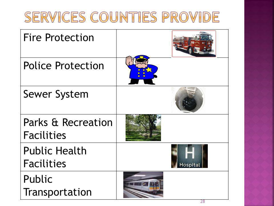 Services Counties provide