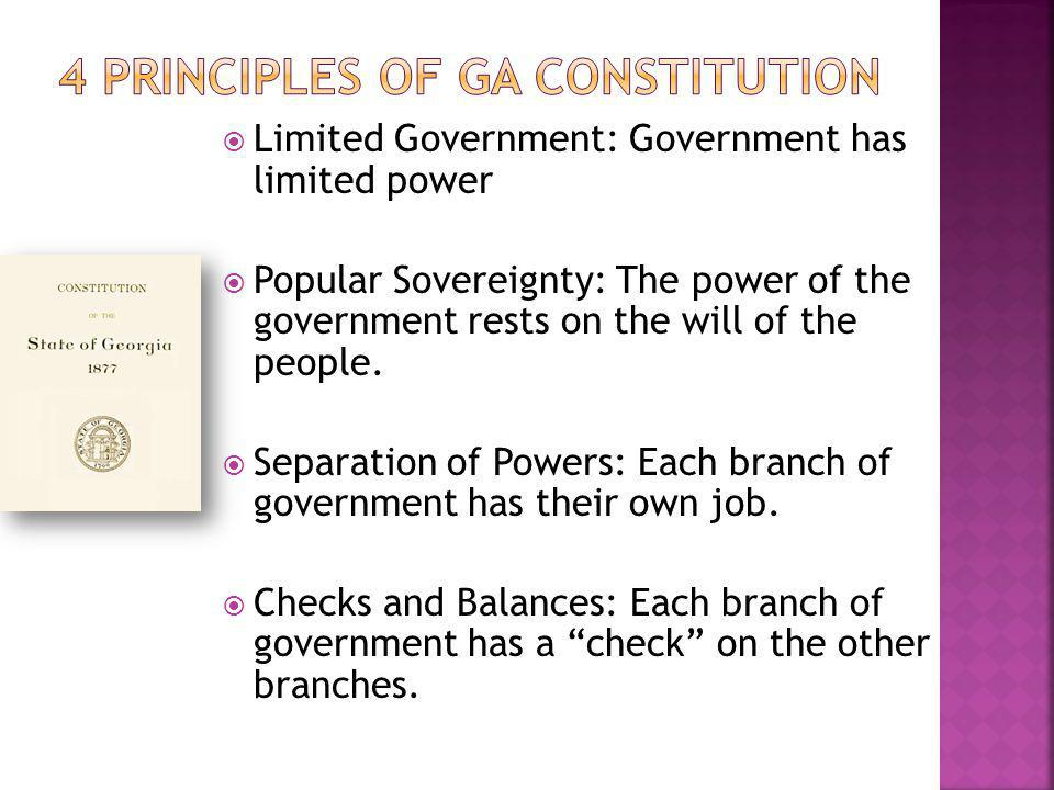 4 Principles of GA Constitution