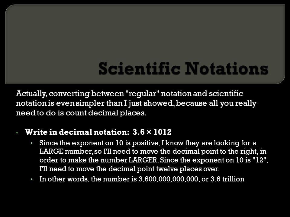 Scientific Notations