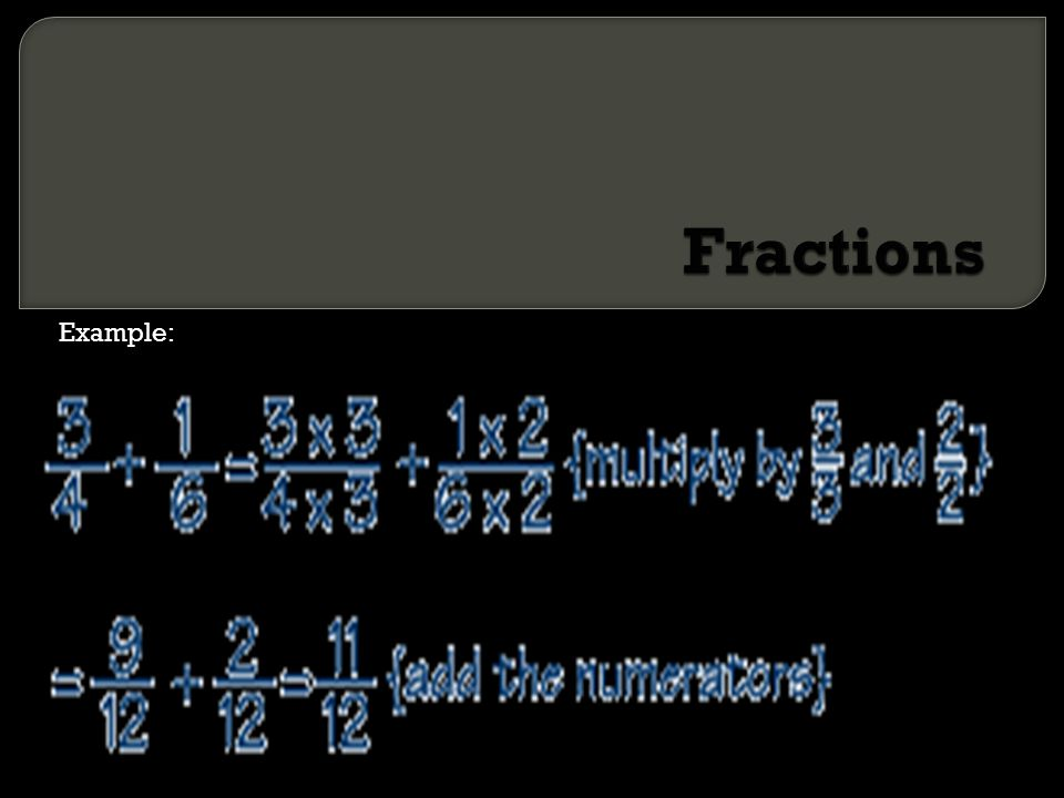 Fractions Example: