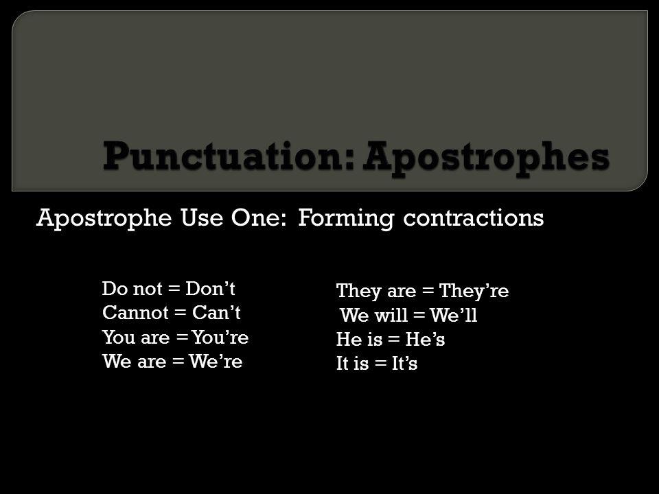 Punctuation: Apostrophes