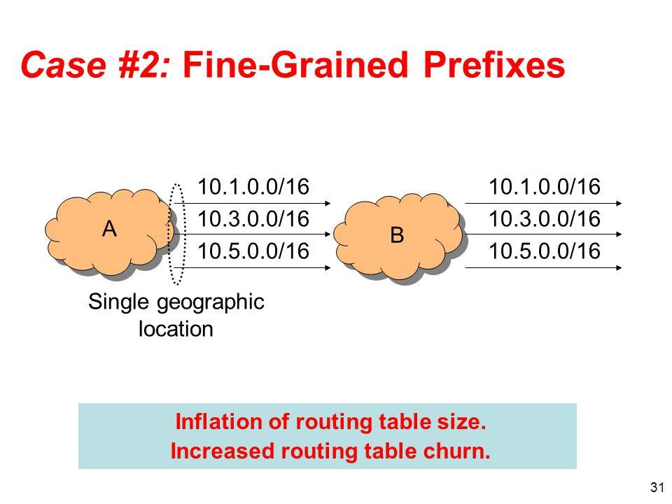 Case #2: Fine-Grained Prefixes