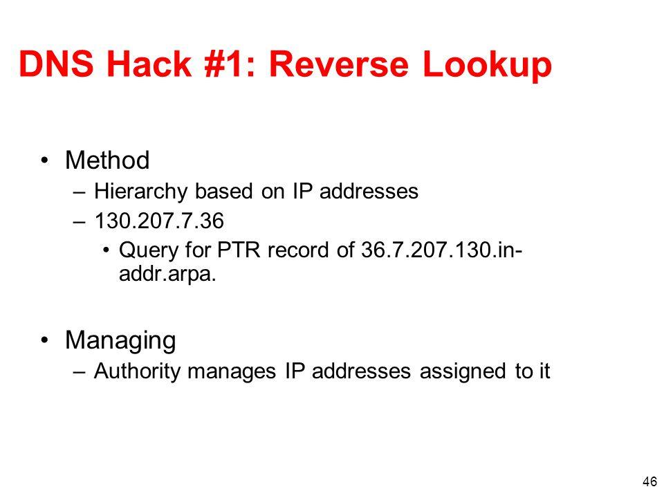 DNS Hack #1: Reverse Lookup