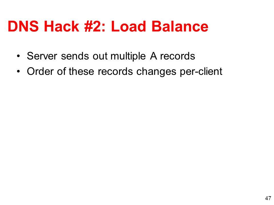DNS Hack #2: Load Balance