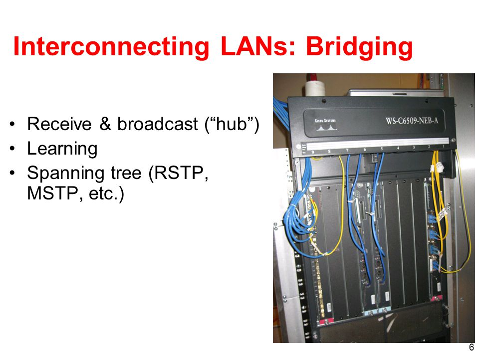 Interconnecting LANs: Bridging