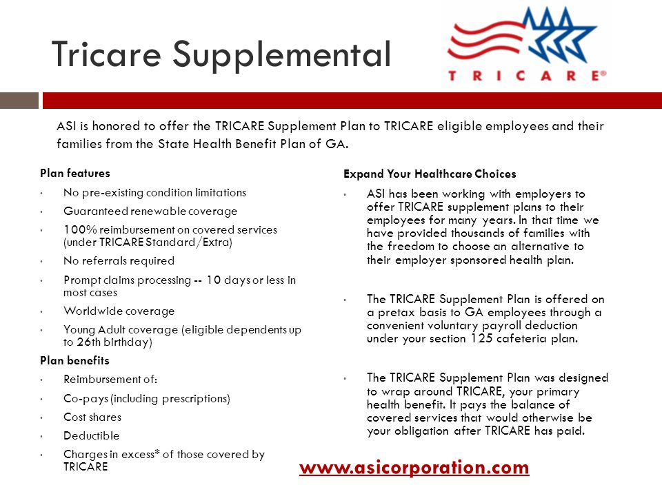 Tricare Supplemental www.asicorporation.com
