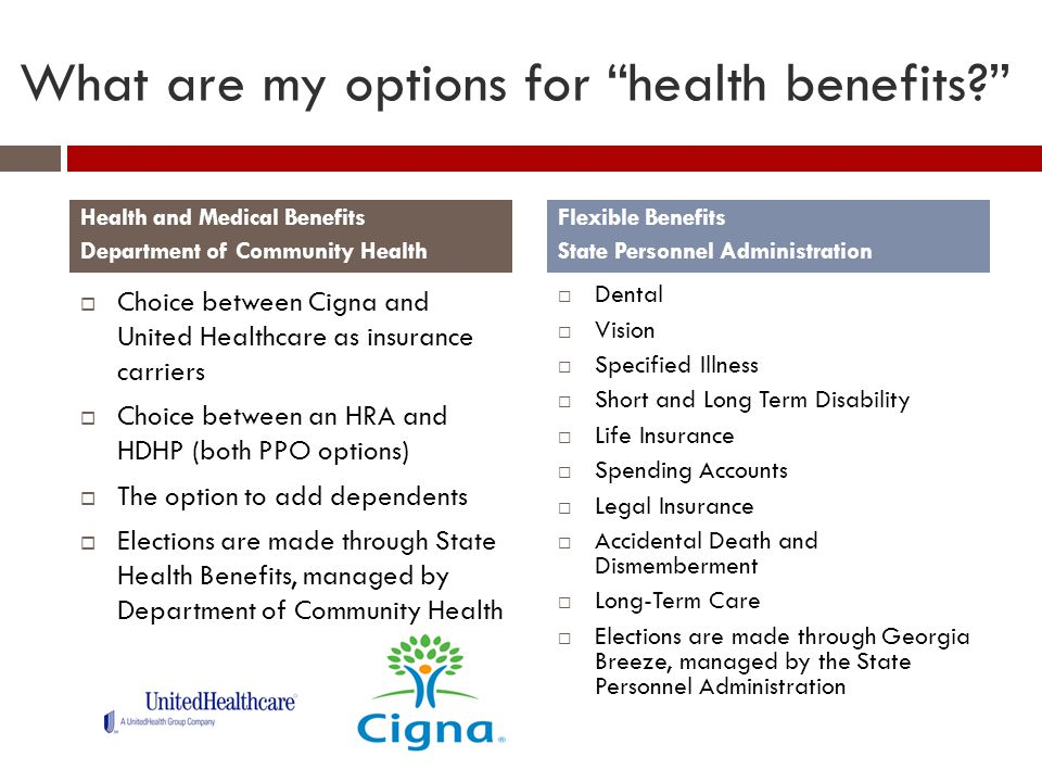 What are my options for health benefits