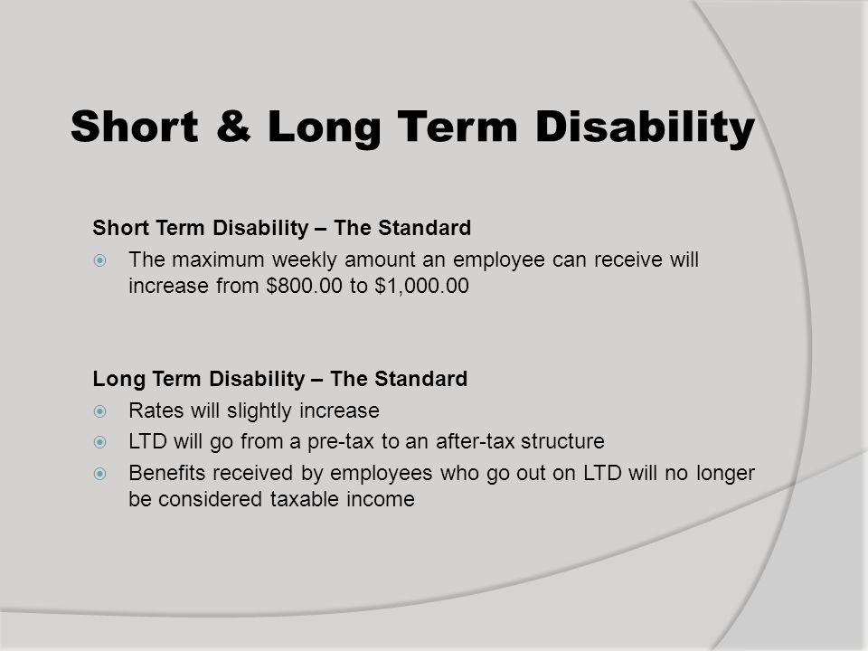 Short & Long Term Disability