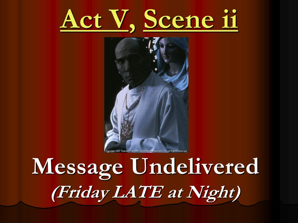 Message Undelivered (Friday LATE at Night)