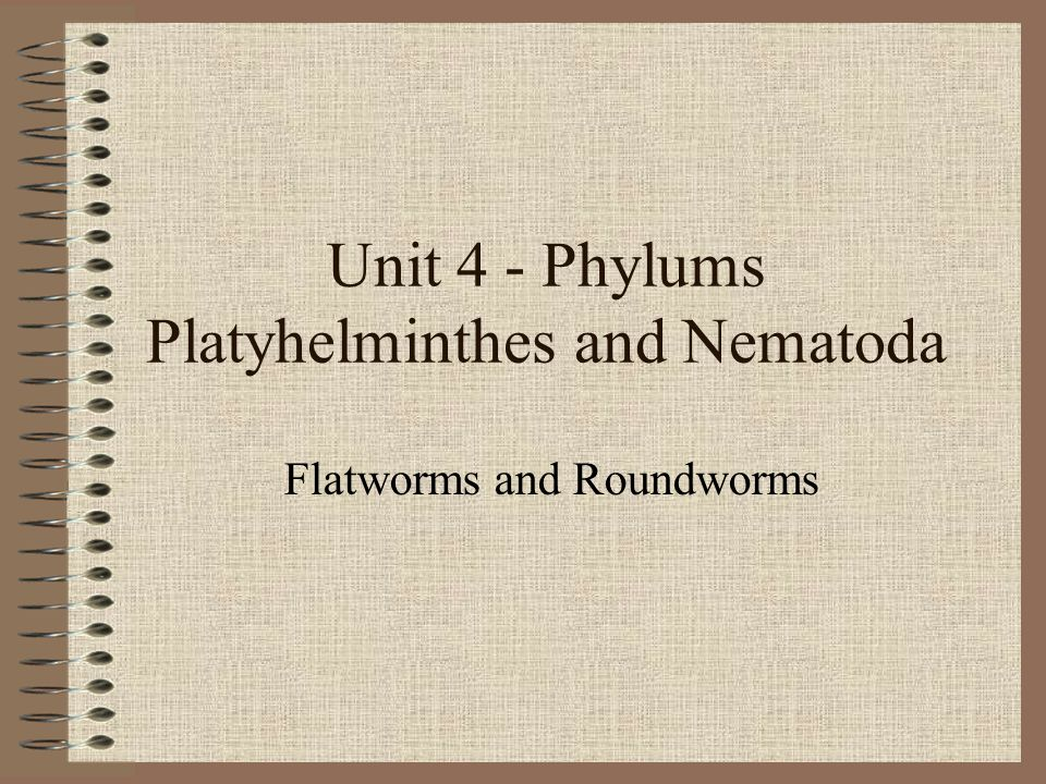 Unit 4 - Phylums Platyhelminthes and Nematoda