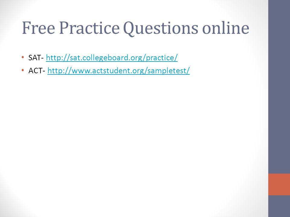 Free Practice Questions online