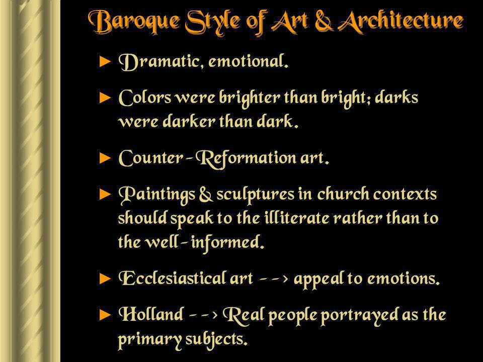 Baroque Style of Art & Architecture