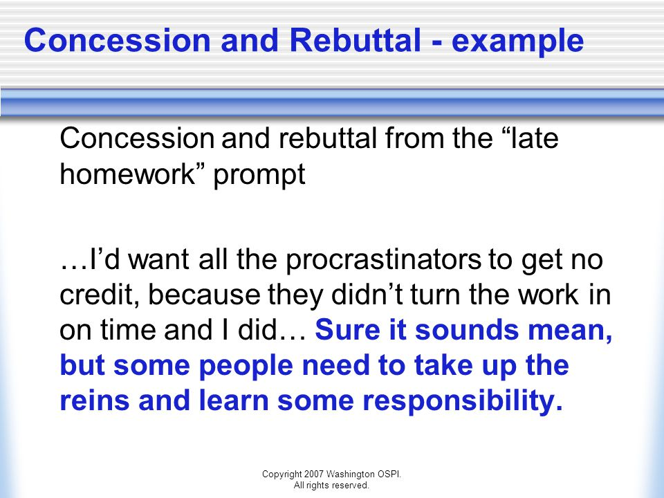 Concession and Rebuttal - example