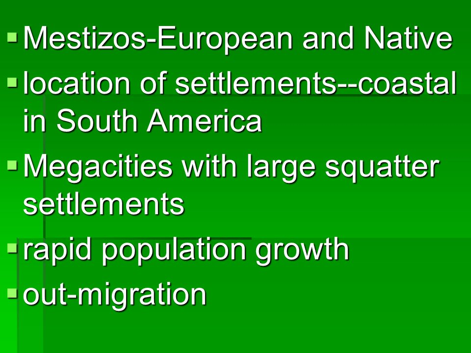 Mestizos-European and Native