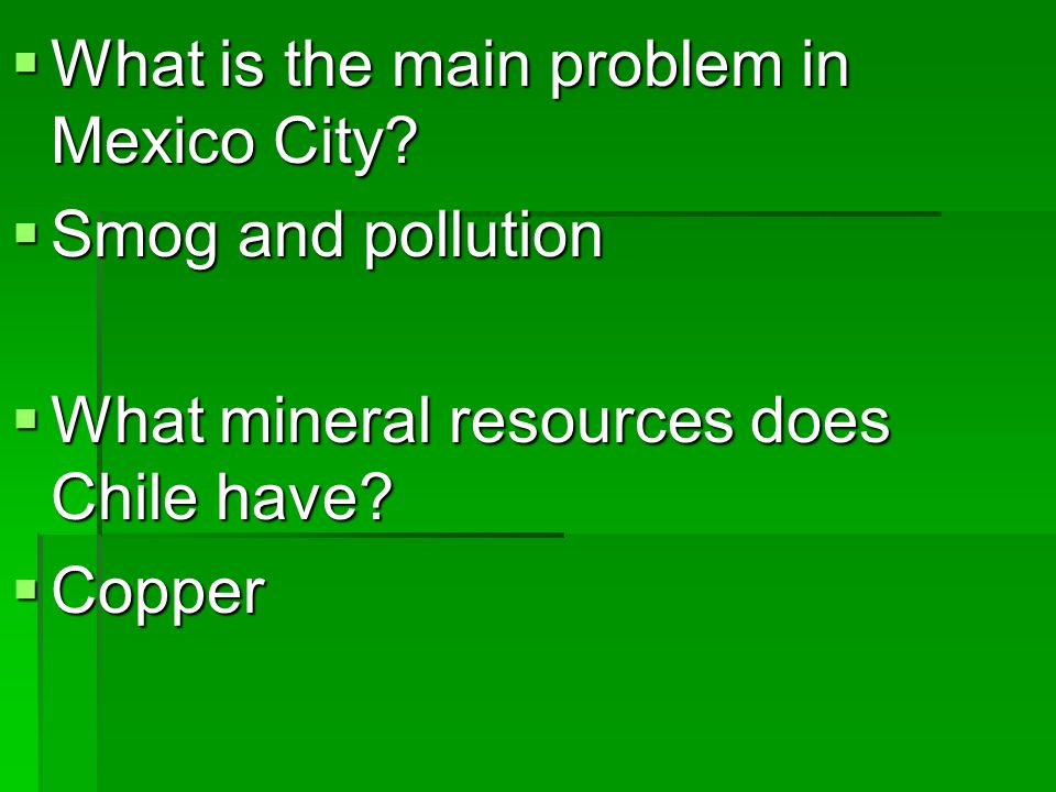 What is the main problem in Mexico City