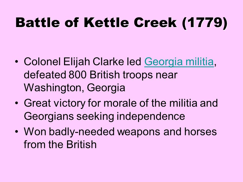 Battle of Kettle Creek (1779)