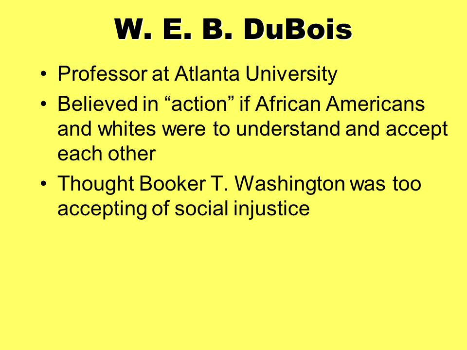 W. E. B. DuBois Professor at Atlanta University