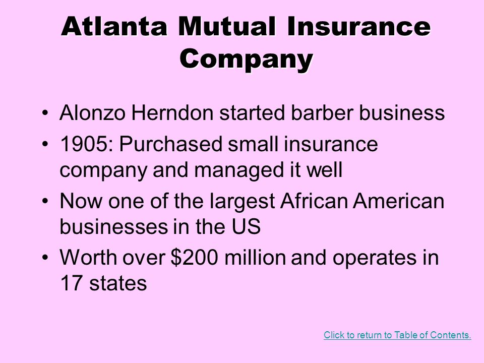 Atlanta Mutual Insurance Company