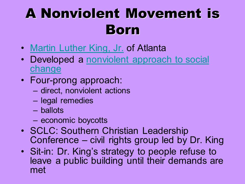 A Nonviolent Movement is Born