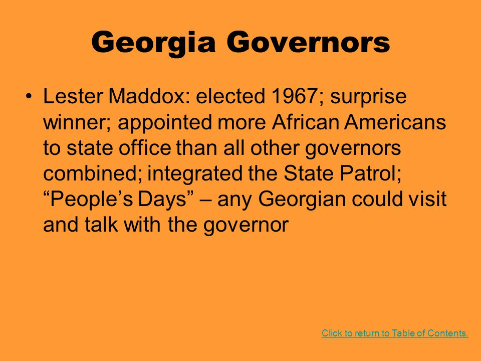 Georgia Governors