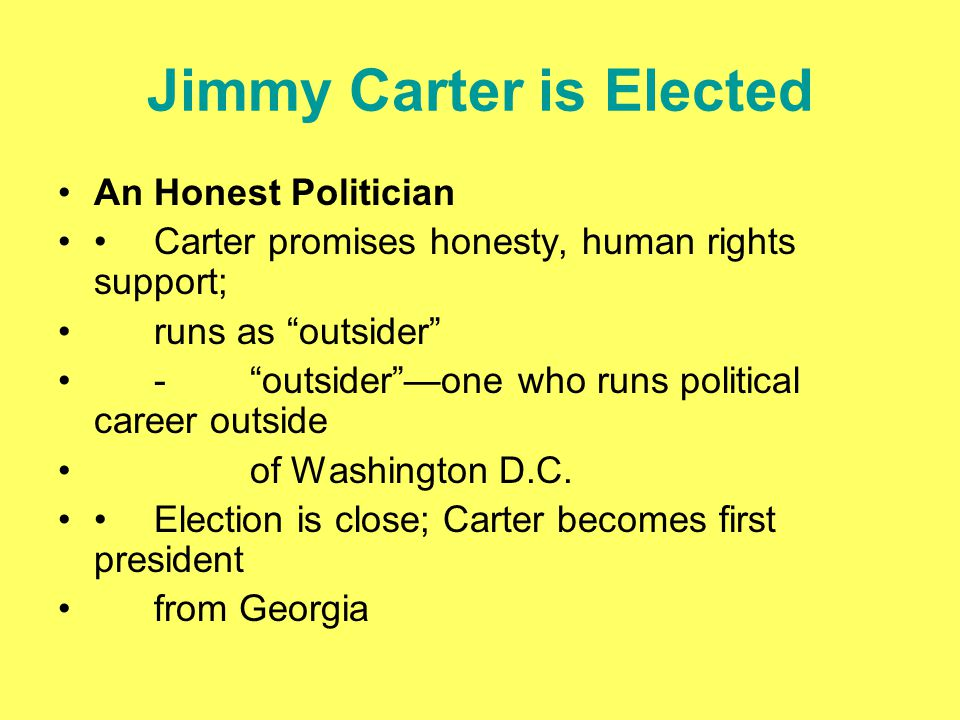 Jimmy Carter is Elected