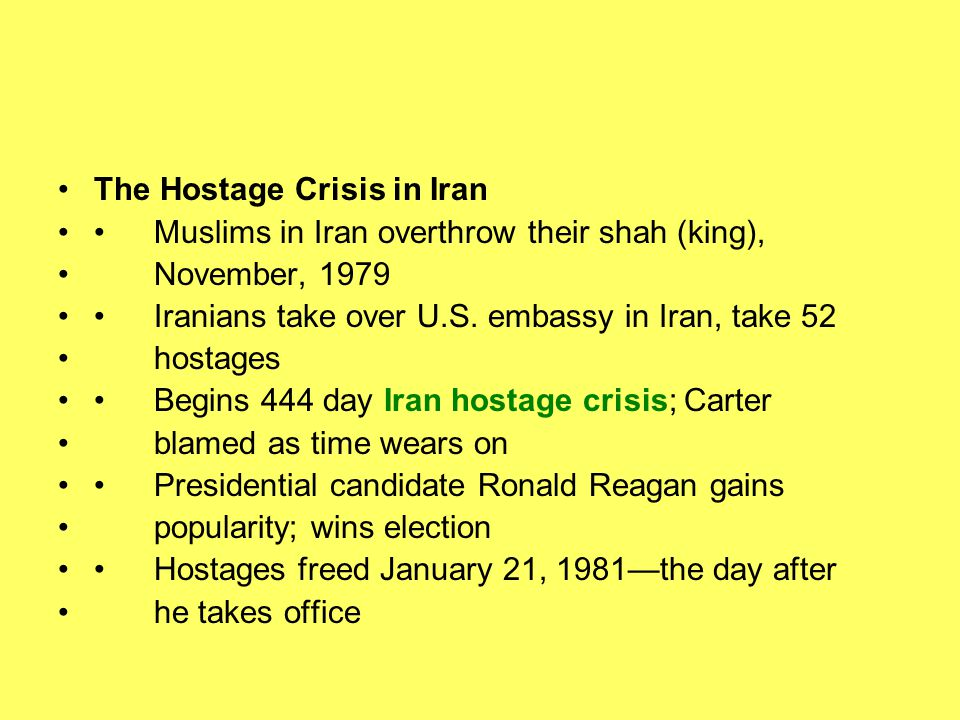 The Hostage Crisis in Iran