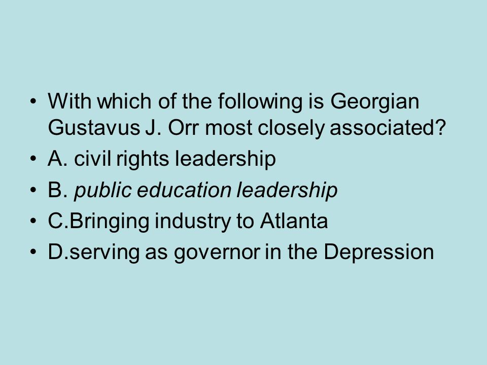 With which of the following is Georgian Gustavus J