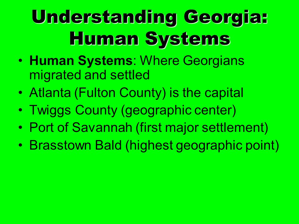 Understanding Georgia: Human Systems