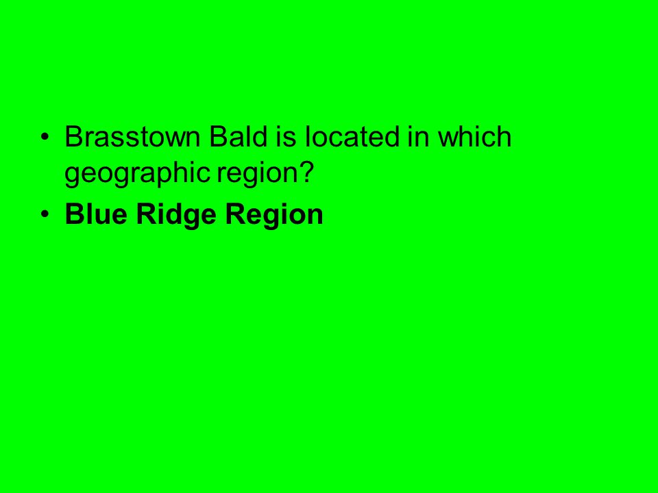 Brasstown Bald is located in which geographic region