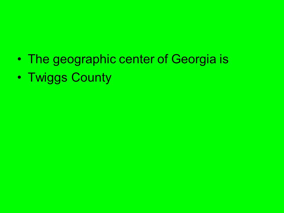 The geographic center of Georgia is