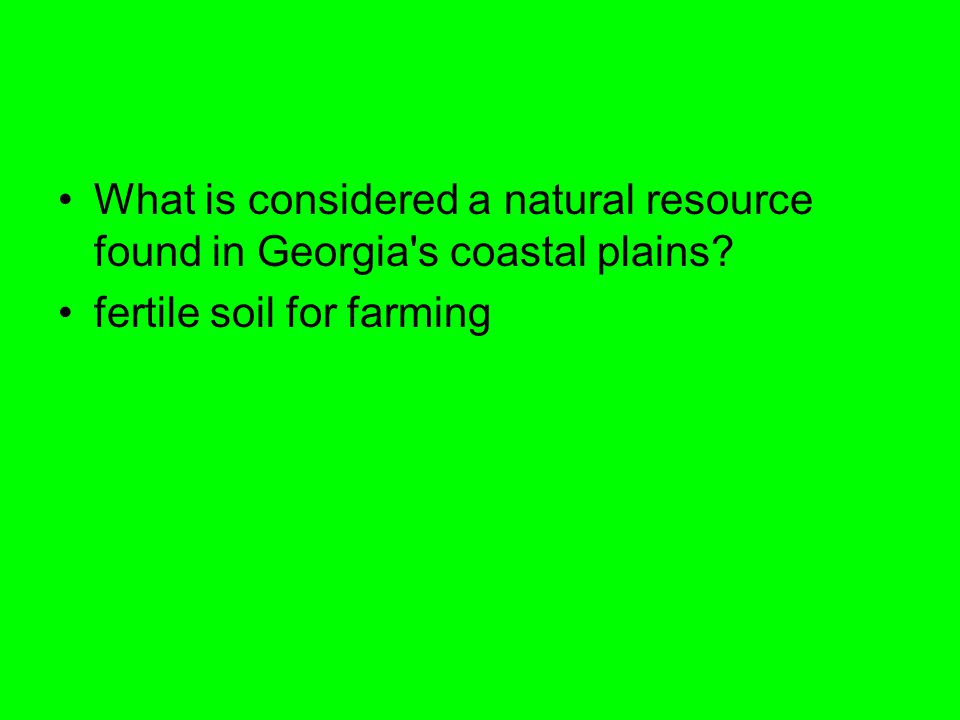 What is considered a natural resource found in Georgia s coastal plains