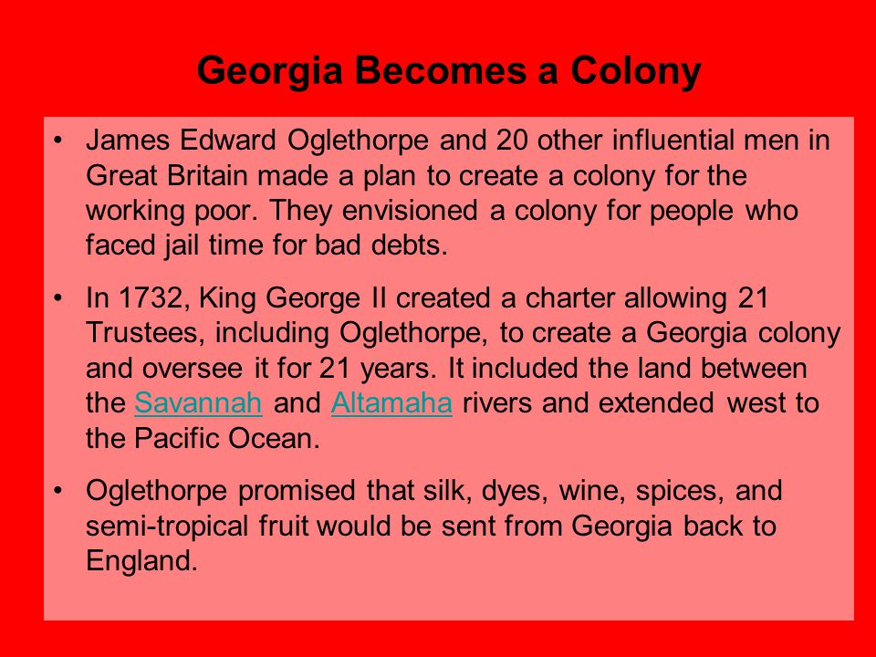 Georgia Becomes a Colony