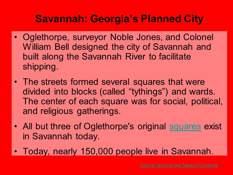 Savannah: Georgia's Planned City