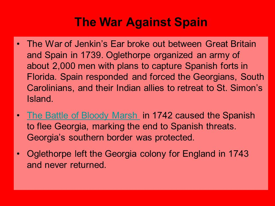 The War Against Spain